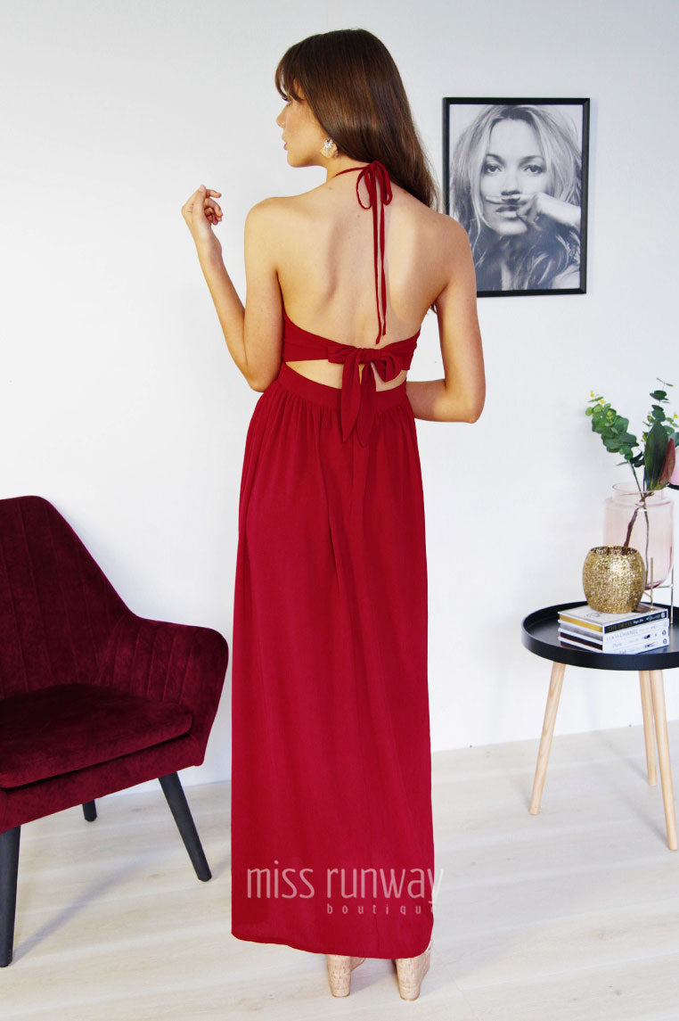 Gianna Maxi Dress - Wine - Miss Runway Boutique
