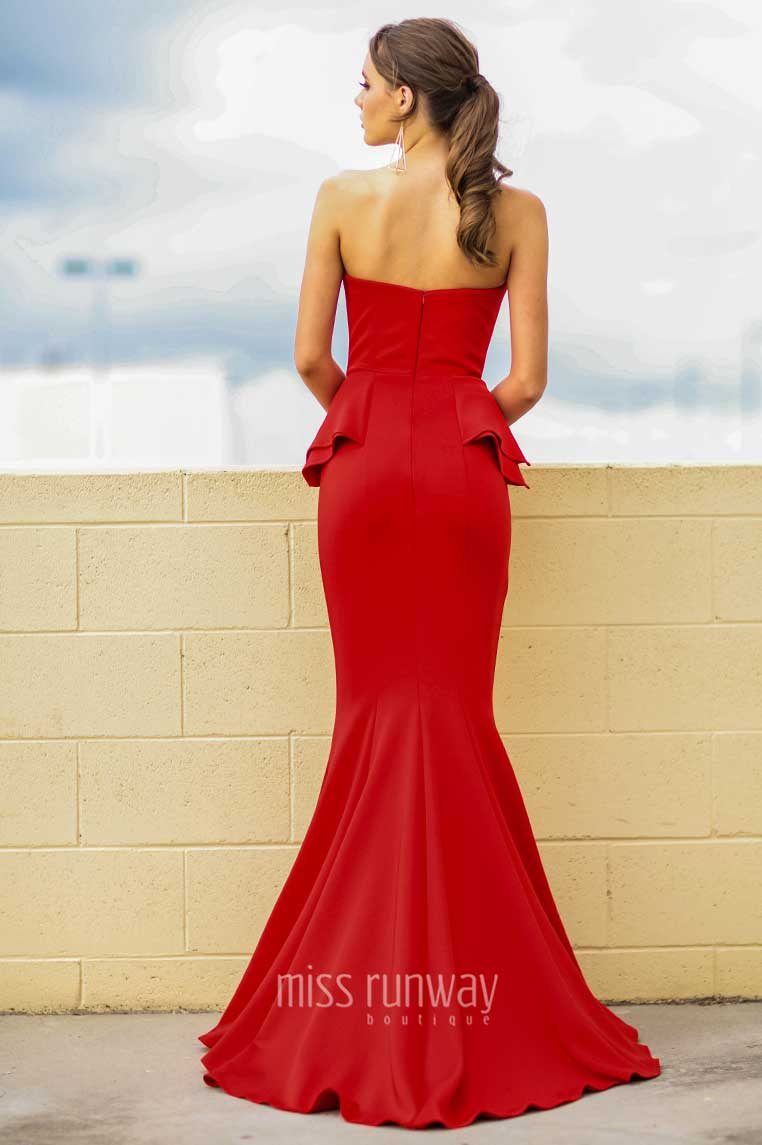 Giselle Gown - Red - Miss Runway Boutique
