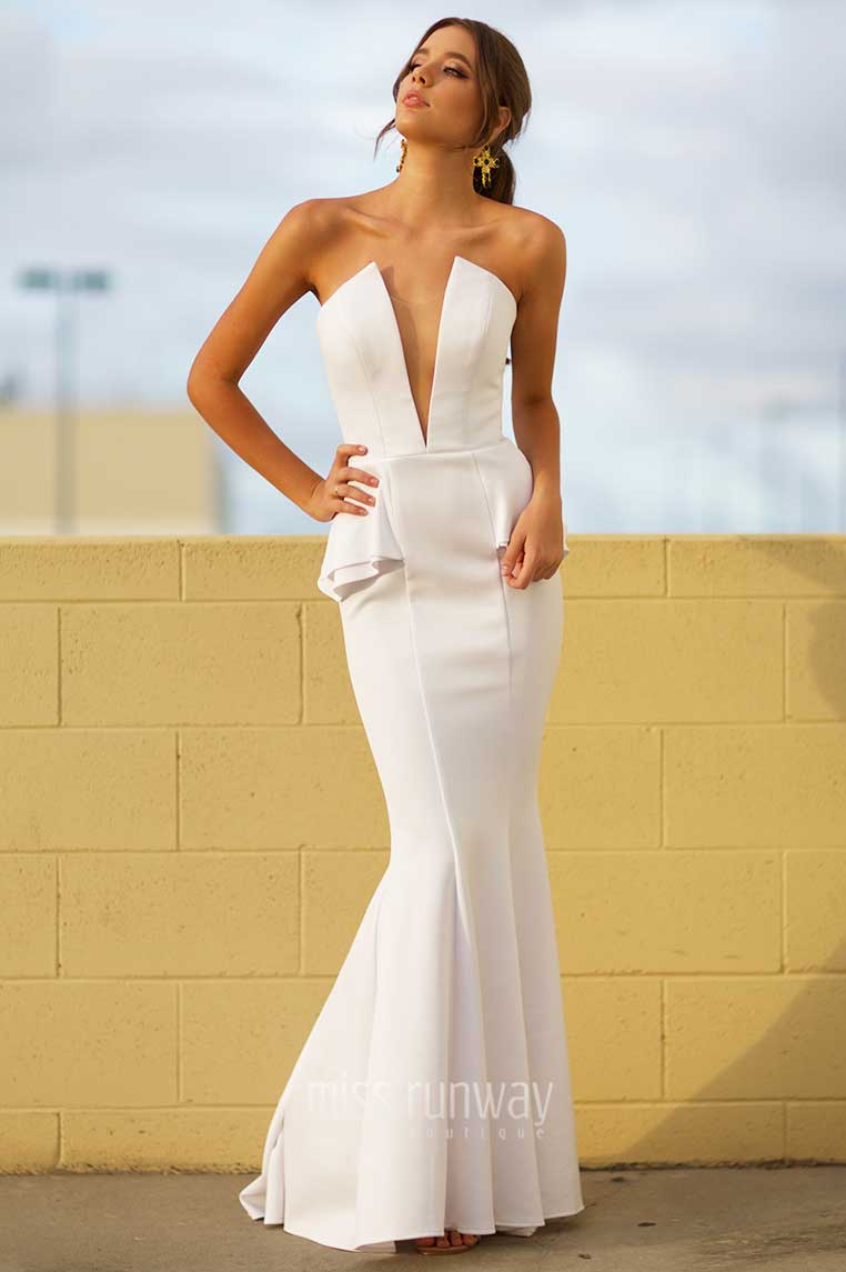 Giselle Gown - White - Miss Runway Boutique