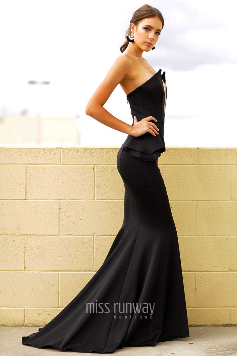 Giselle Gown - Black - Miss Runway Boutique
