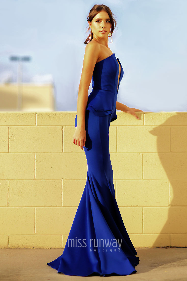 Giselle Gown - Cobalt - Miss Runway Boutique
