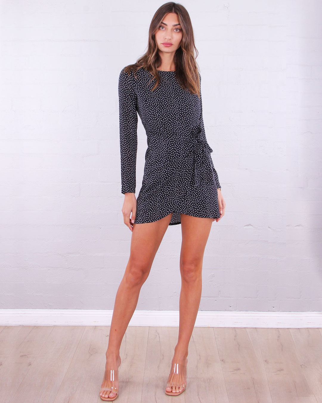 Gomez Wrap Dress - Black