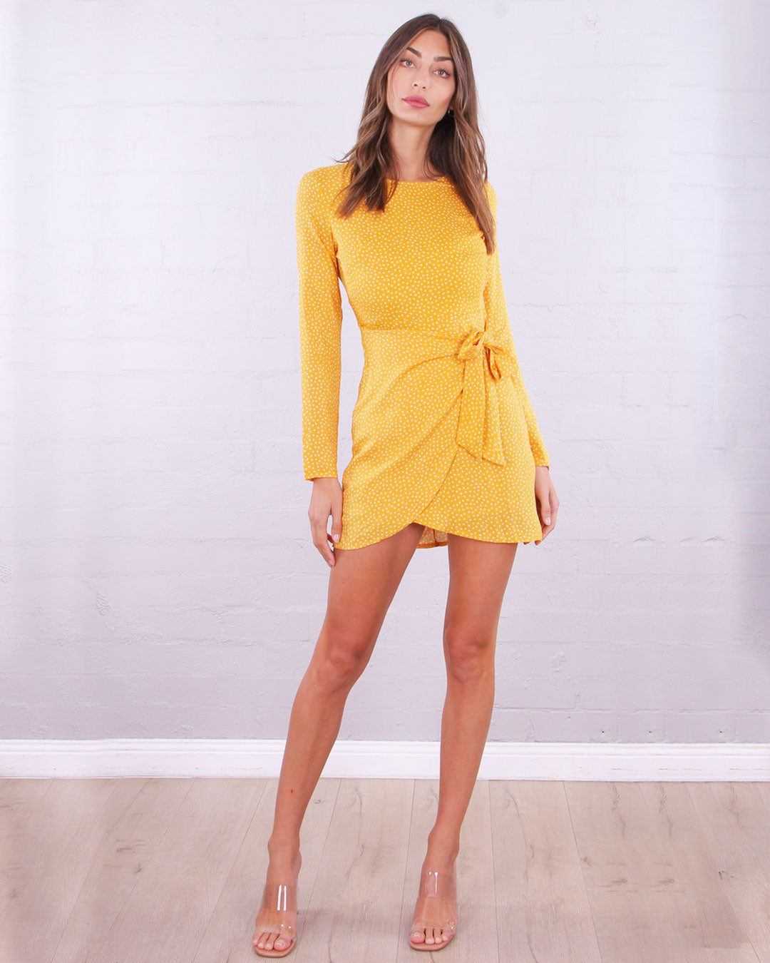 Gomez Wrap Dress - Yellow