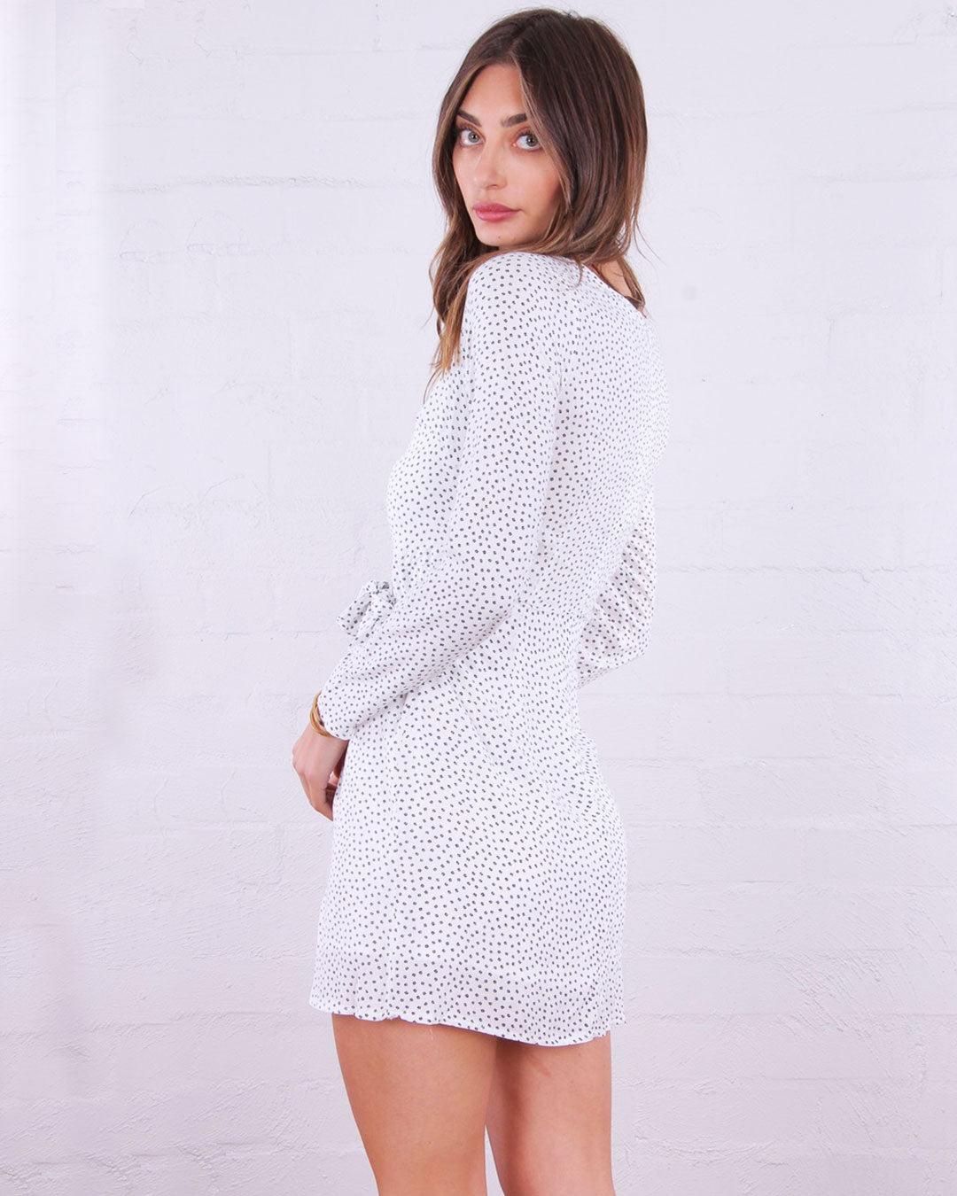 Gomez Wrap Dress - White