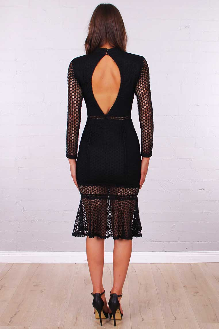 Hayley Lace Dress - Black - Miss Runway Boutique