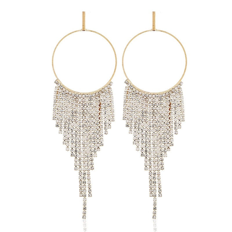 Waterfall Diamond Earrings - Gold