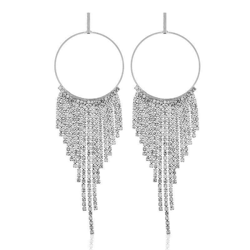 Waterfall Diamond Earrings - Silver