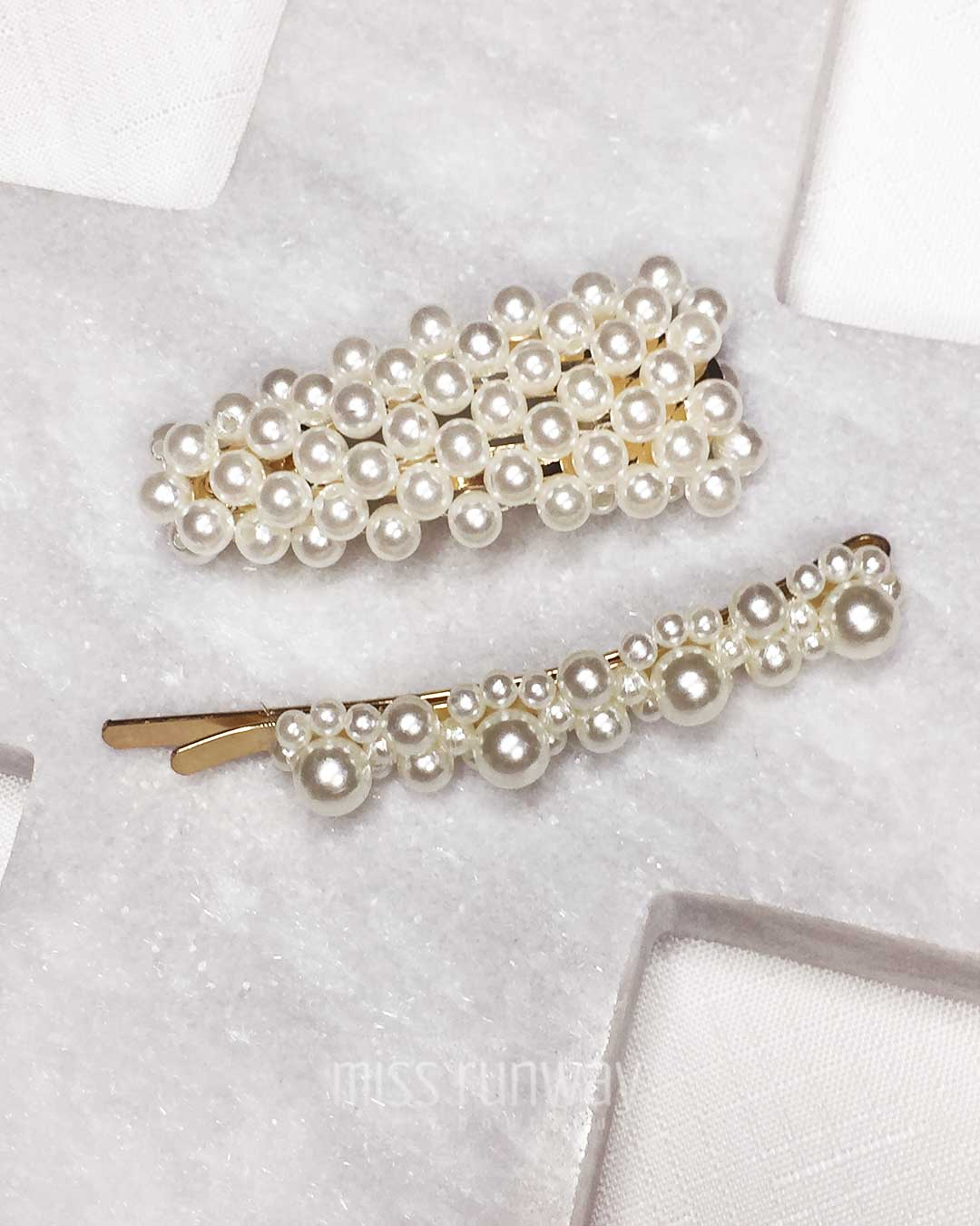Julia Pearl Hairclip - Two Pack