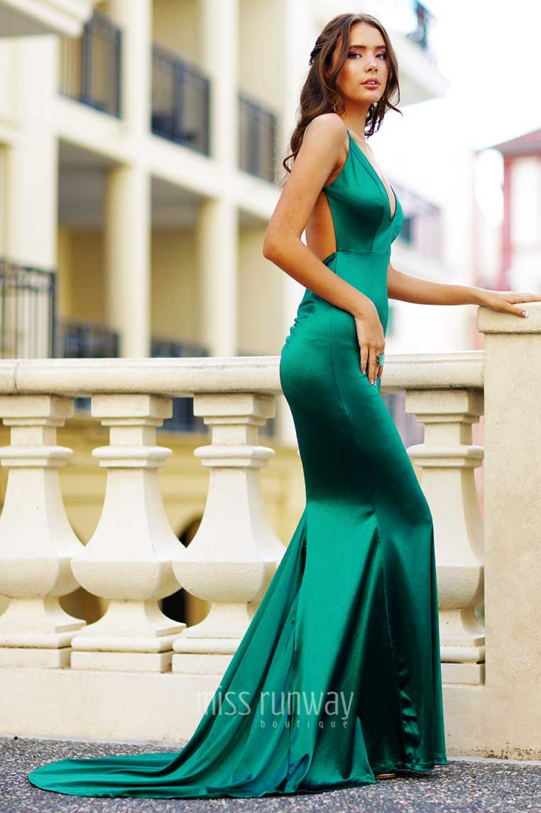 Kendall Formal Gown , Emerald Green