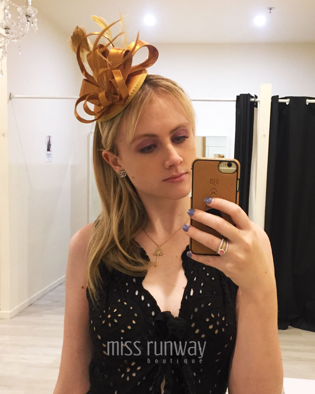 Layla Fascinator - Bronze