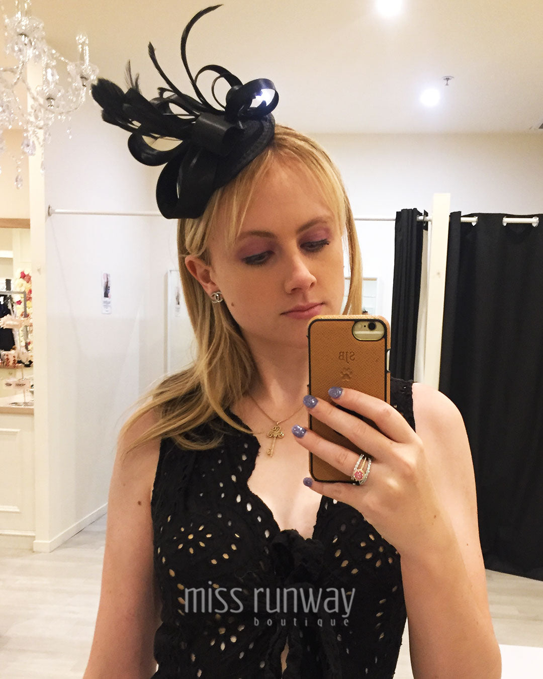 Layla Fascinator - Black