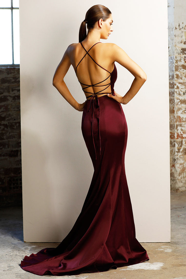 Paige Gown - Berry