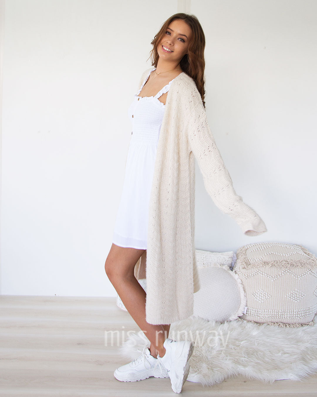 Pandora Knit Cardigan- Cream