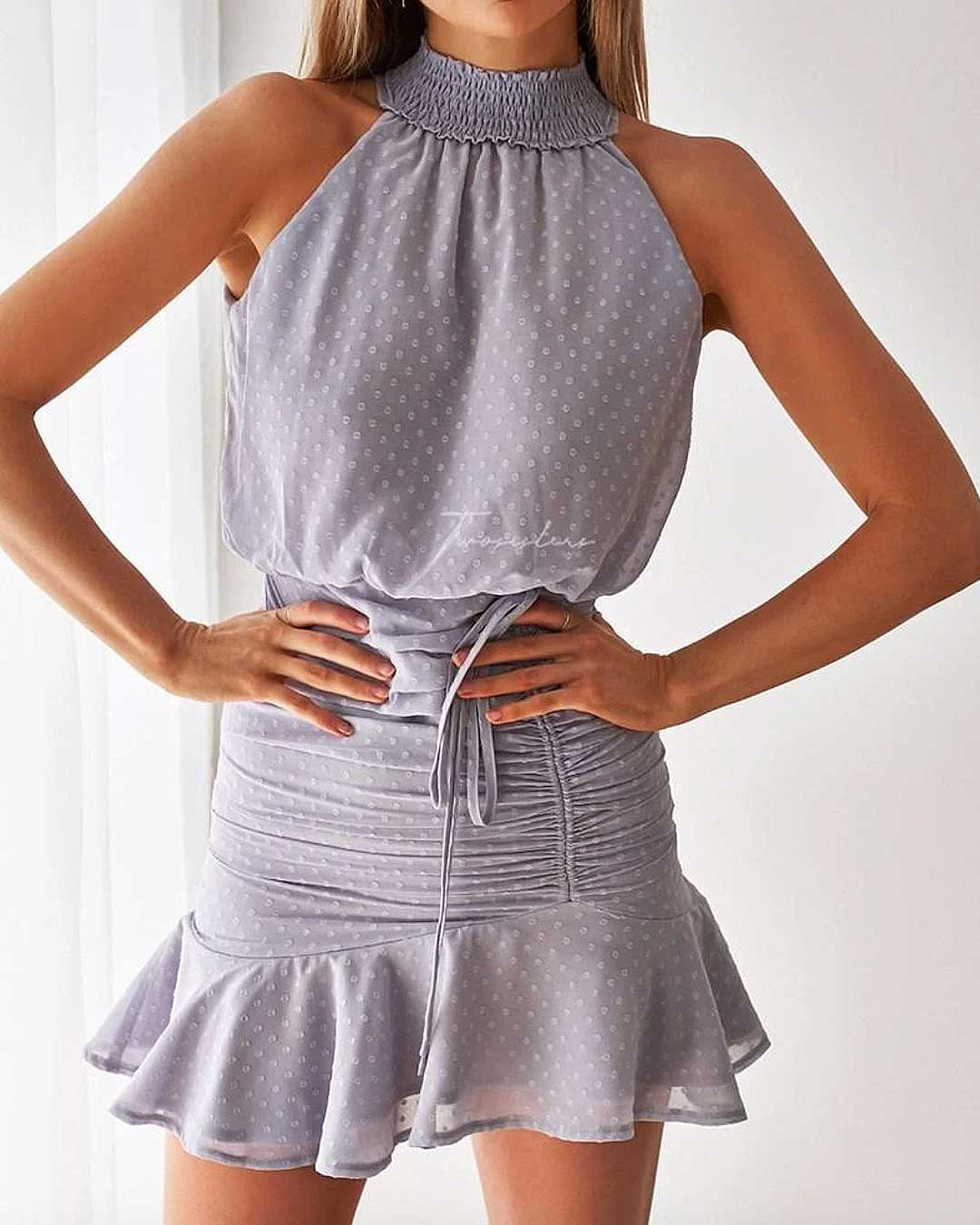 Pip Dress - Frosted Grey