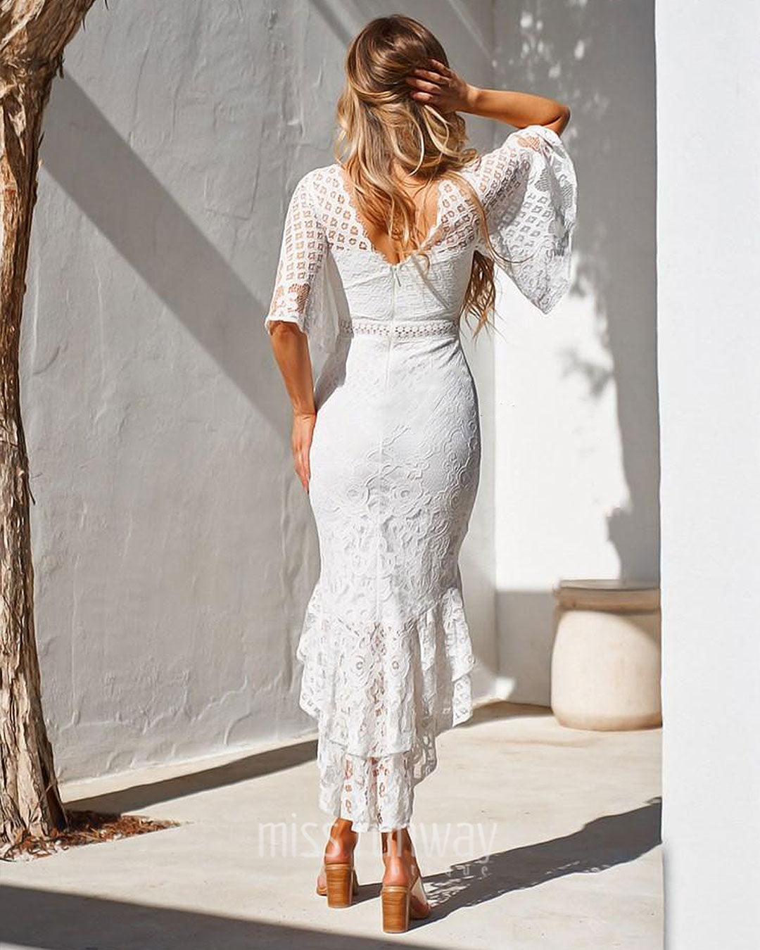 Reyna Lace Midi Dress - White [PRE-ORDER]