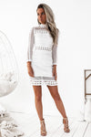 Riverdale Lace Dress - White - Miss Runway Boutique