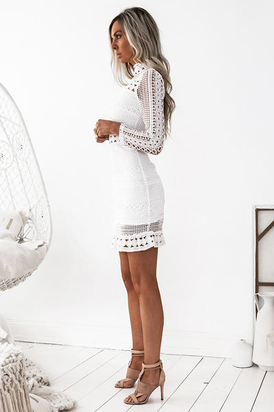 Riverdale Lace Dress - White [Re-stocked]