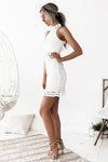 Riverdale Sleeveless Lace Dress - White - Miss Runway Boutique