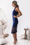 Rivers Midi Lace Dress - Navy - Miss Runway Boutique