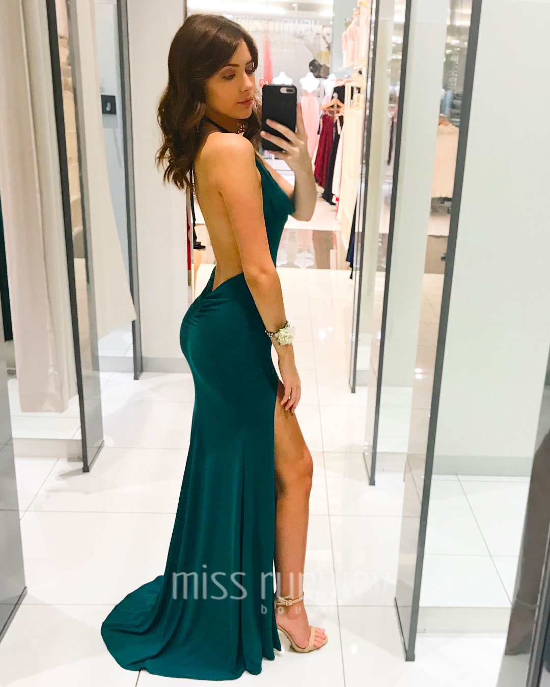 Roxy Gown - Emerald Green