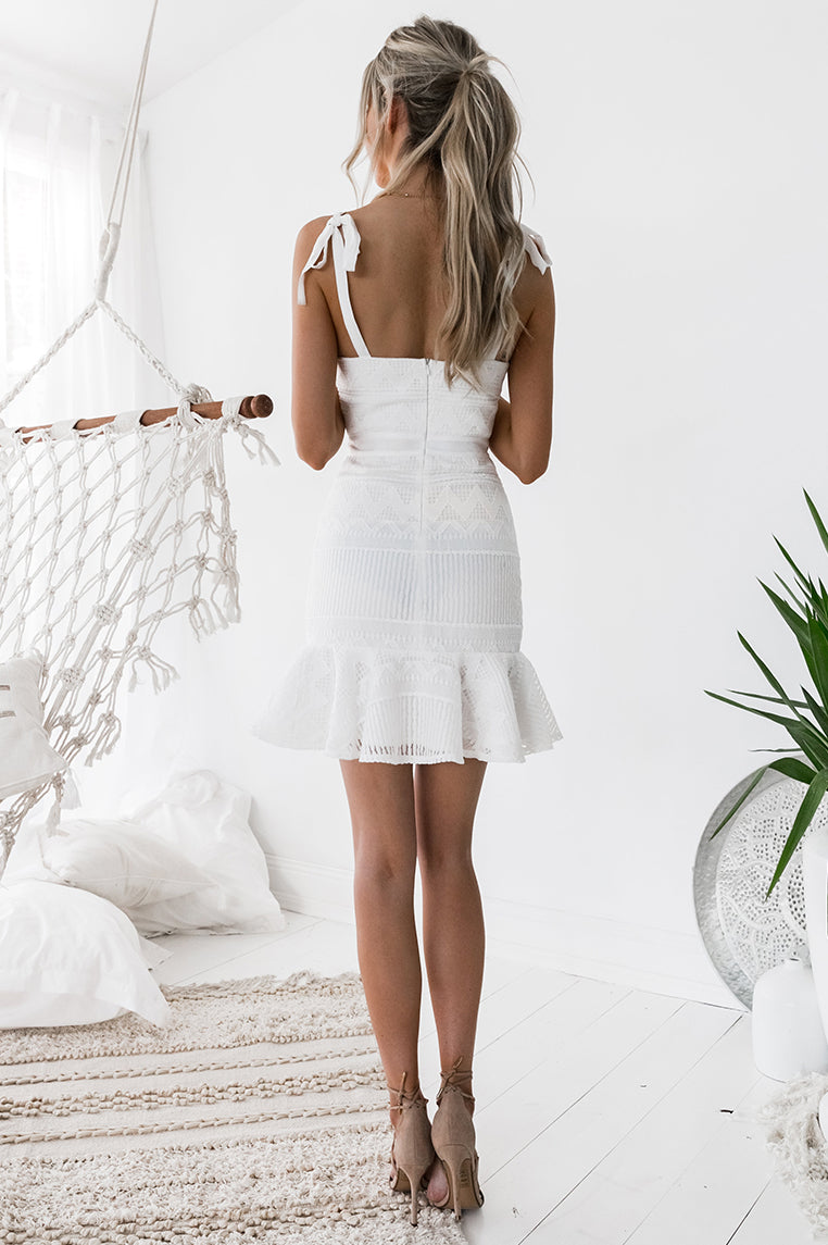 Shona Lace Dress - White [PRE-ORDER]