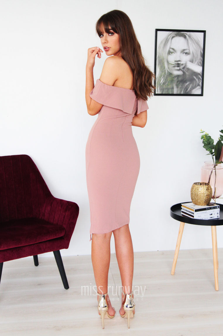 Tammy Midi Dress - Mauve