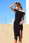 Tammy Midi Dress - Black - Miss Runway Boutique