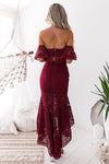 Celine Lace Set - Burgundy - Miss Runway Boutique