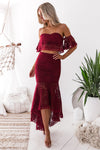 Celine Lace Set - Wine - Miss Runway Boutique