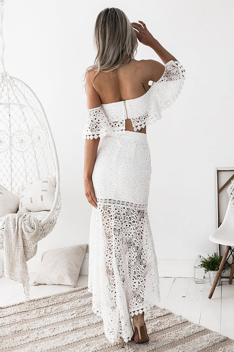 Toga Lace Set - White - Miss Runway Boutique