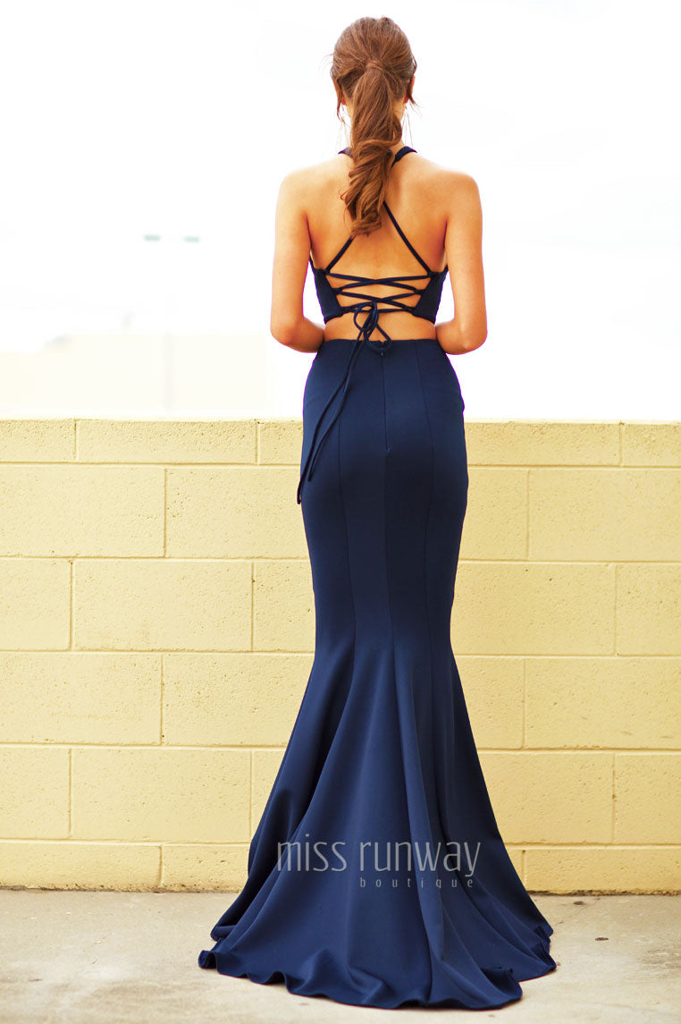 Tyra Two Piece Gown - Navy