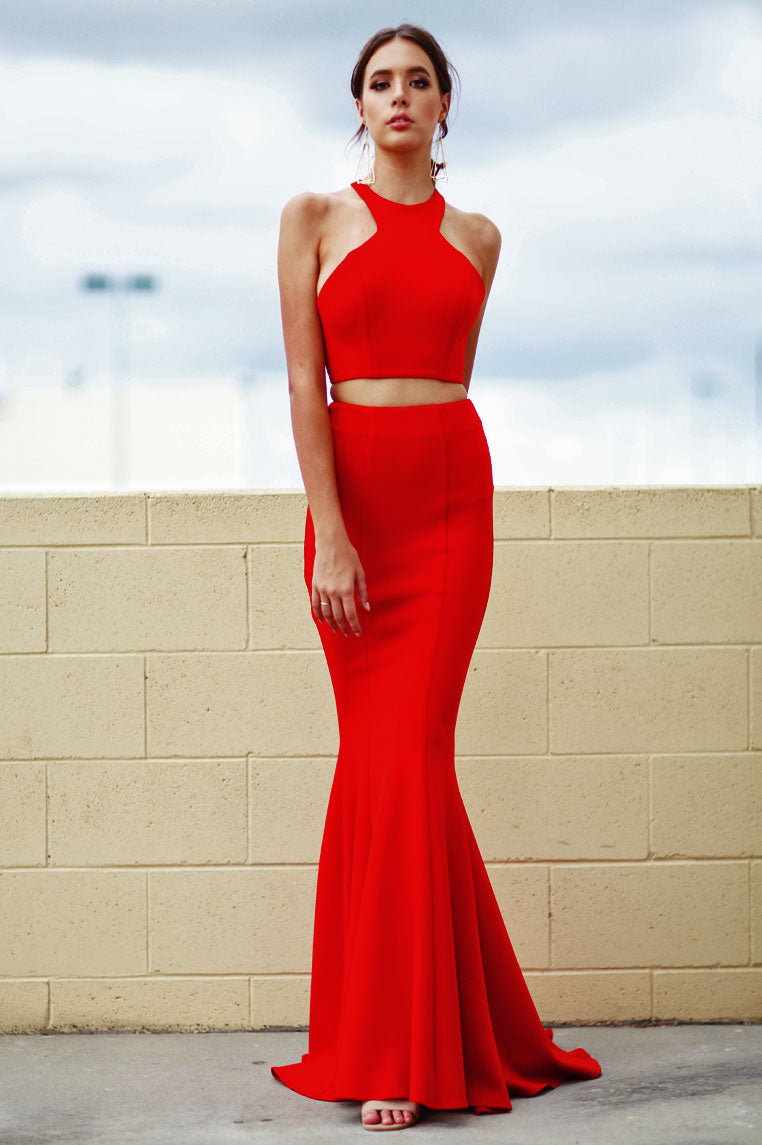 Tyra Two Piece Gown - Red