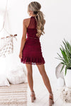 Vicky Lace Dress - Wine [PRE-ORDER]