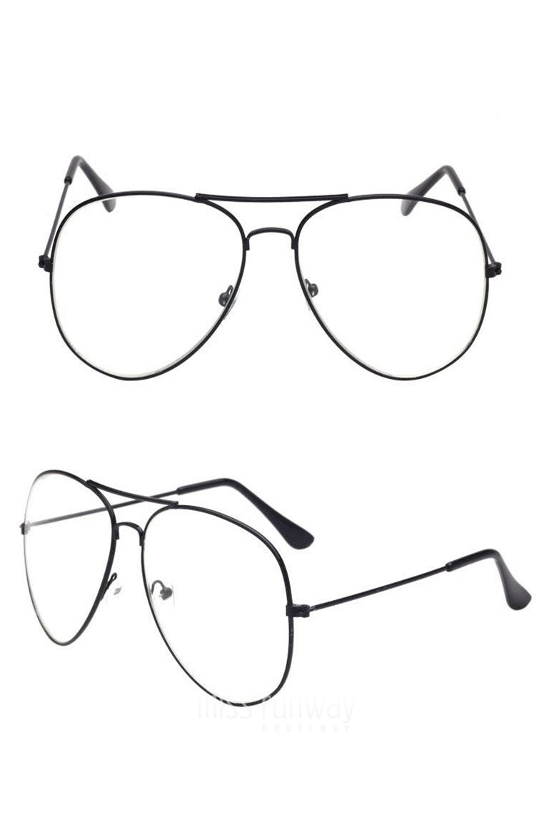 8cd1268665a Viva Clear Glasses - Black - Miss Runway Boutique