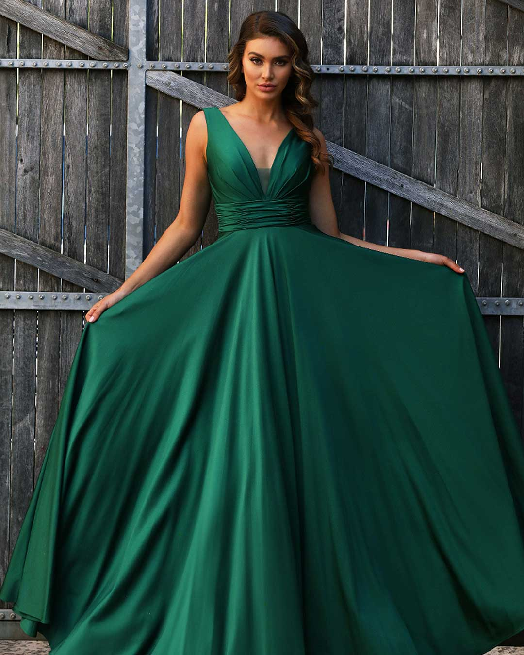 Yasmine Gown - Emerald Green