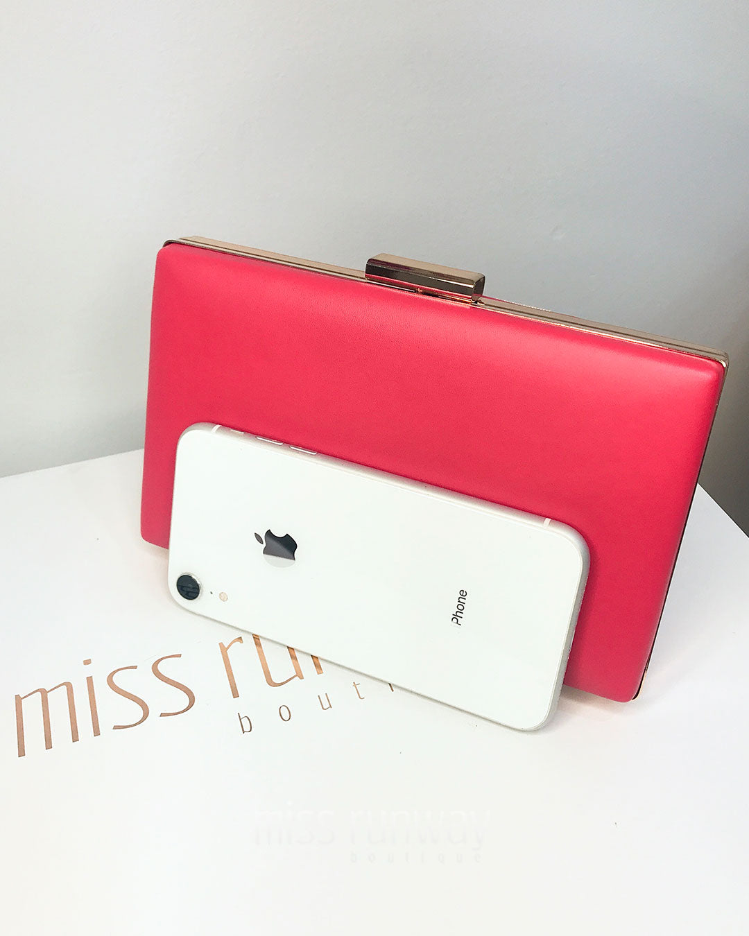 Zena Box Clutch - Red