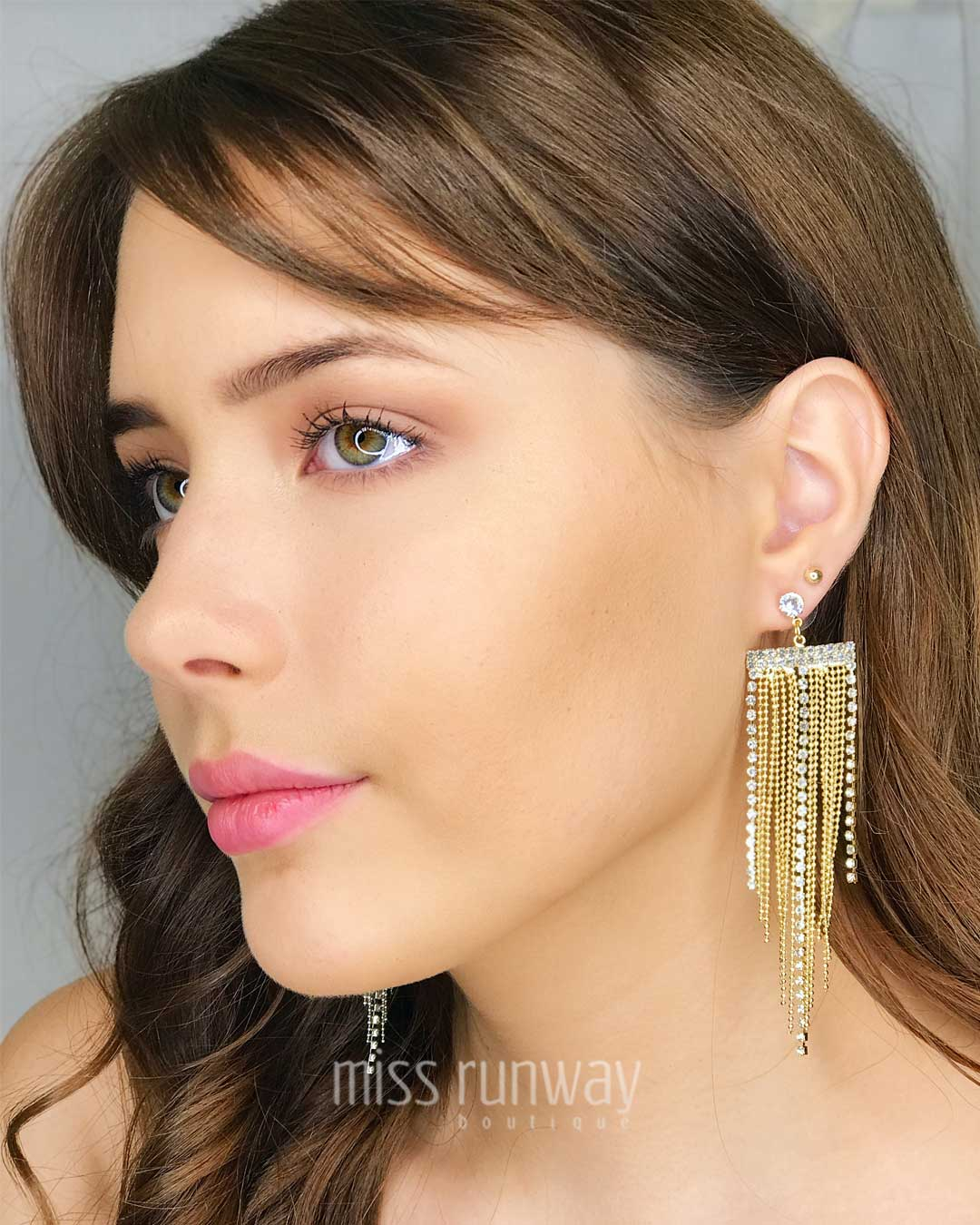 Cascade Diamond Earrings - Gold