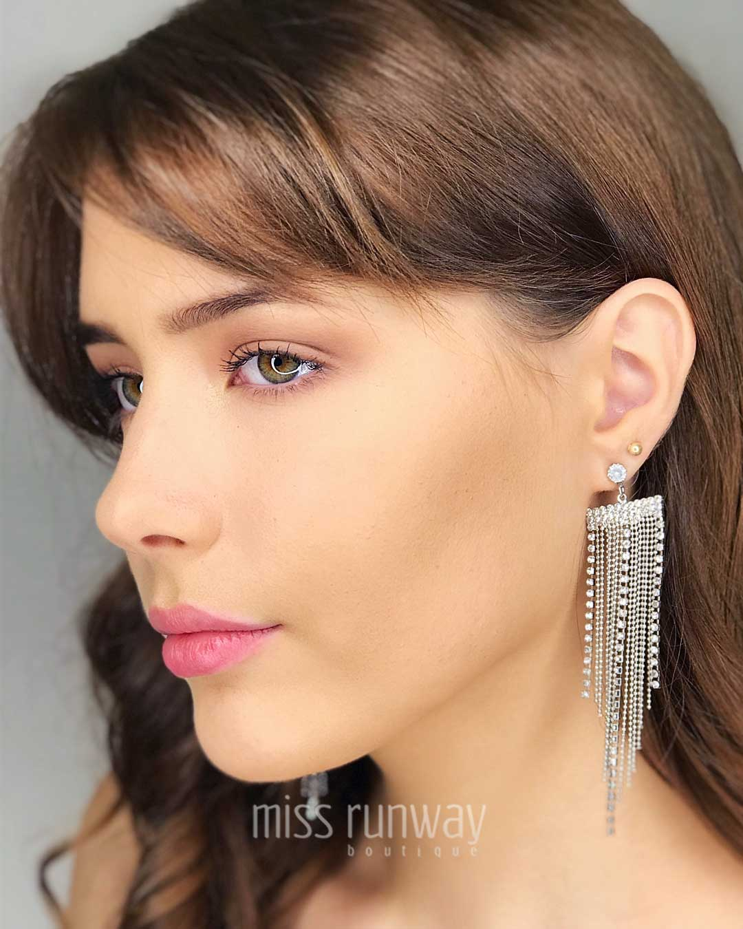 Cascade Diamond Earrings - Silver