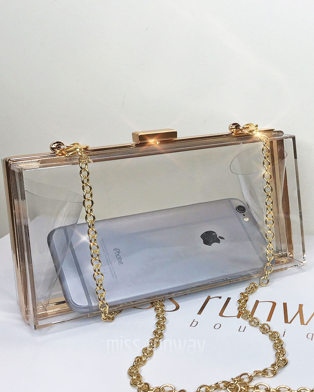 Crystal Box Clutch - Clear