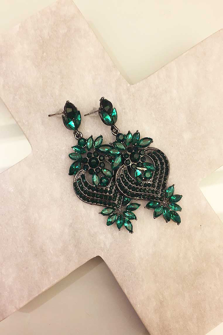 Glam Child Earrings - Emerald Green