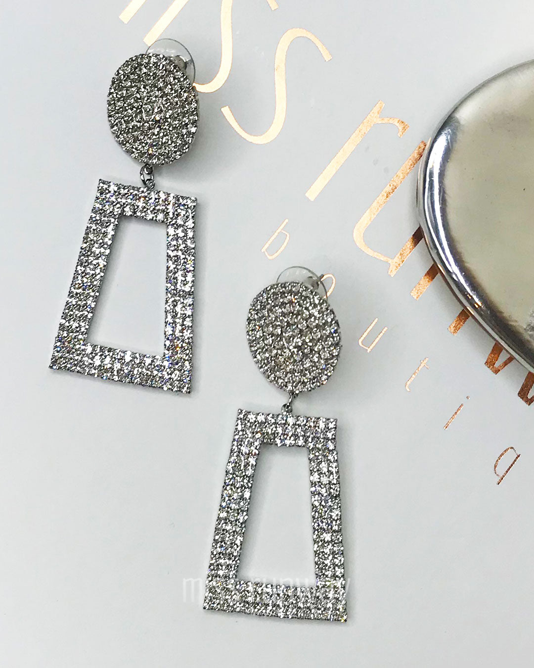 Elsa Earrings - Silver