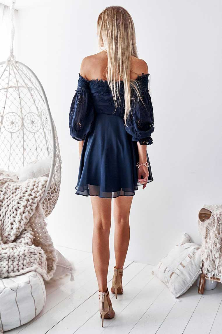 Emma Lace Dress - Navy [PRE-ORDER]