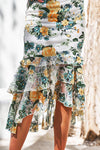 Evaliah Dress - Green/Yellow Floral [PRE-ORDER]