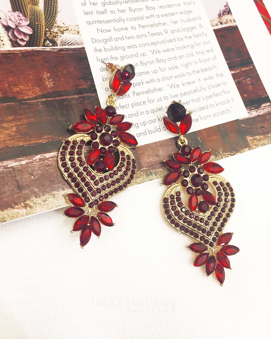 Glam Child Earrings - Red
