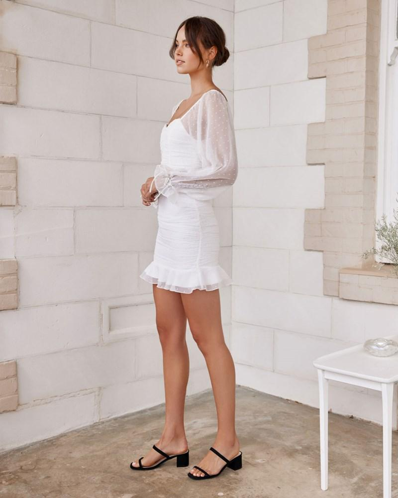 Harriette Mini Dress - White