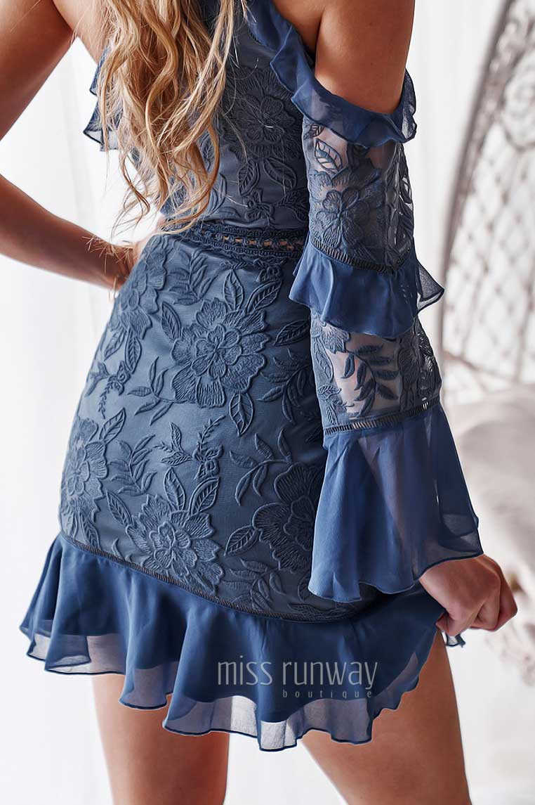 Indiana Lace Dress - Steel [PRE-ORDER]