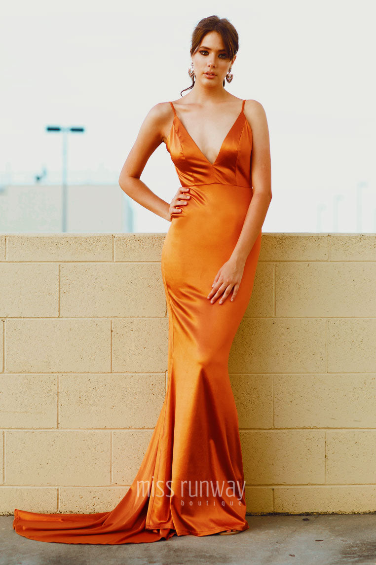 Kendall Formal Gown - Rust