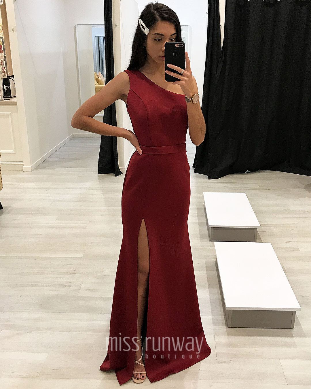Kiera Gown - Wine