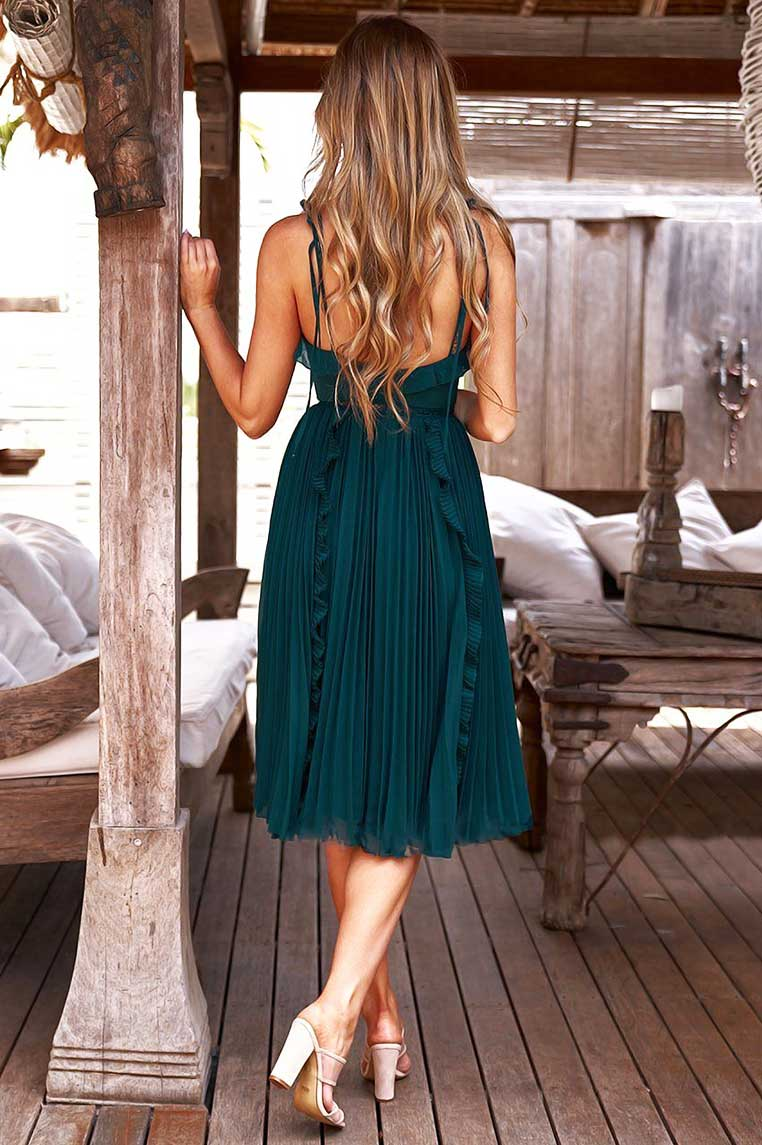 Maia Dress - Emerald Green