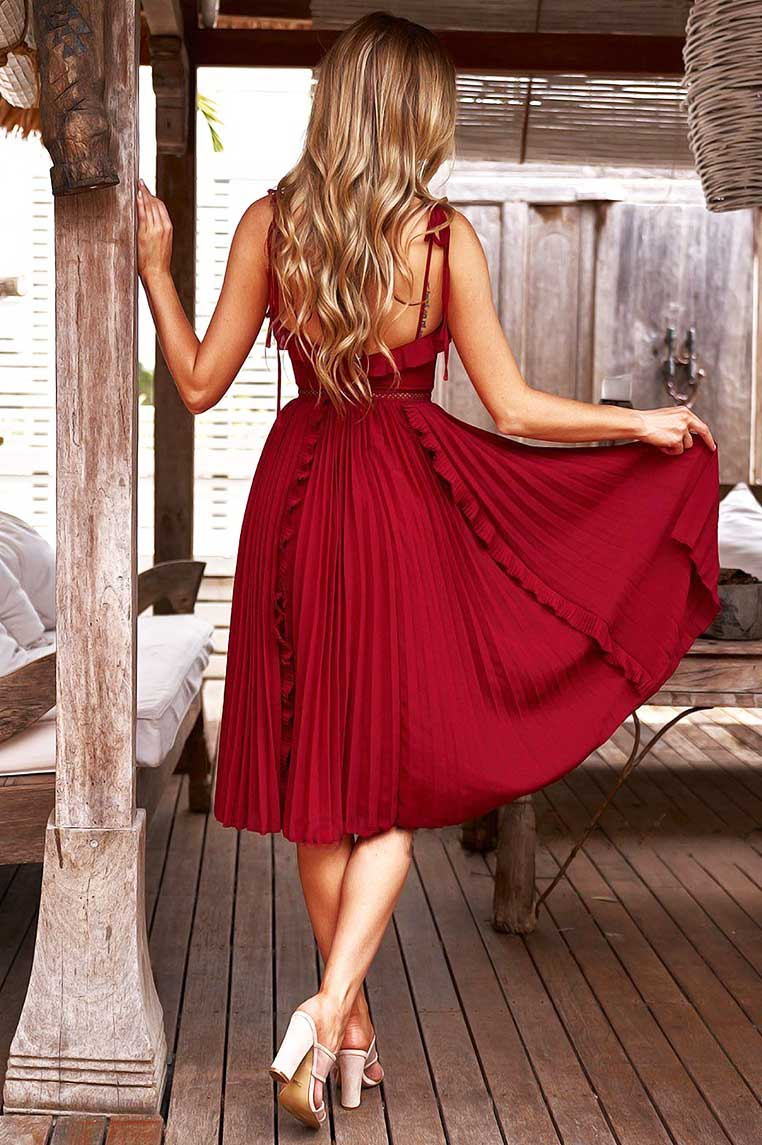 Maia Dress - Red [PRE-ORDER]